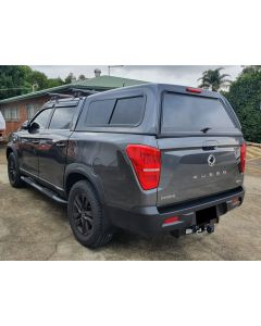 Smooth Fibreglass Canopy for SSANGYONG Musso 4dr Ute Dual Cab 2018 On