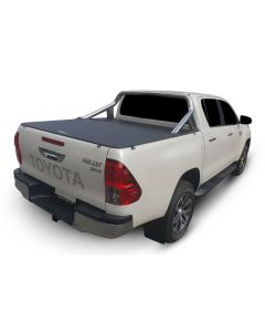 No Drill Soft Tonneau Cover for TOYOTA Hilux A-Deck 4dr Dual Cab 10/15 On