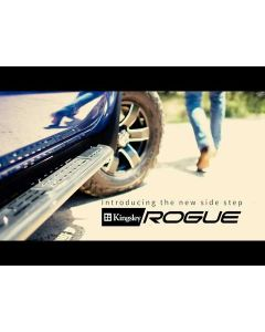 Black Rogue Side Steps for ISUZU D-Max TF 4dr Ute Dual Cab 06/12 to 06/20